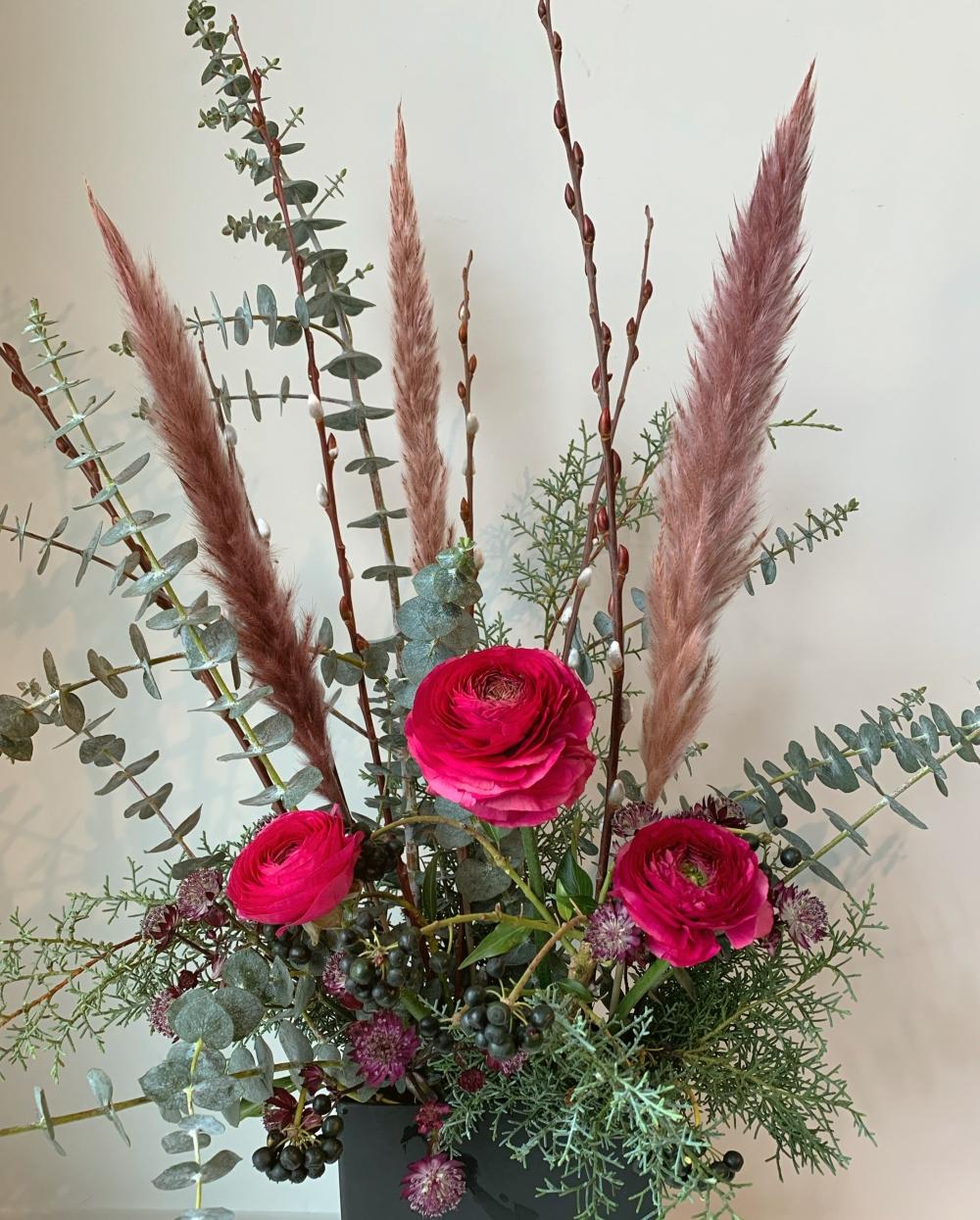 Saint-Valentin: Renoncules et pampas # 8