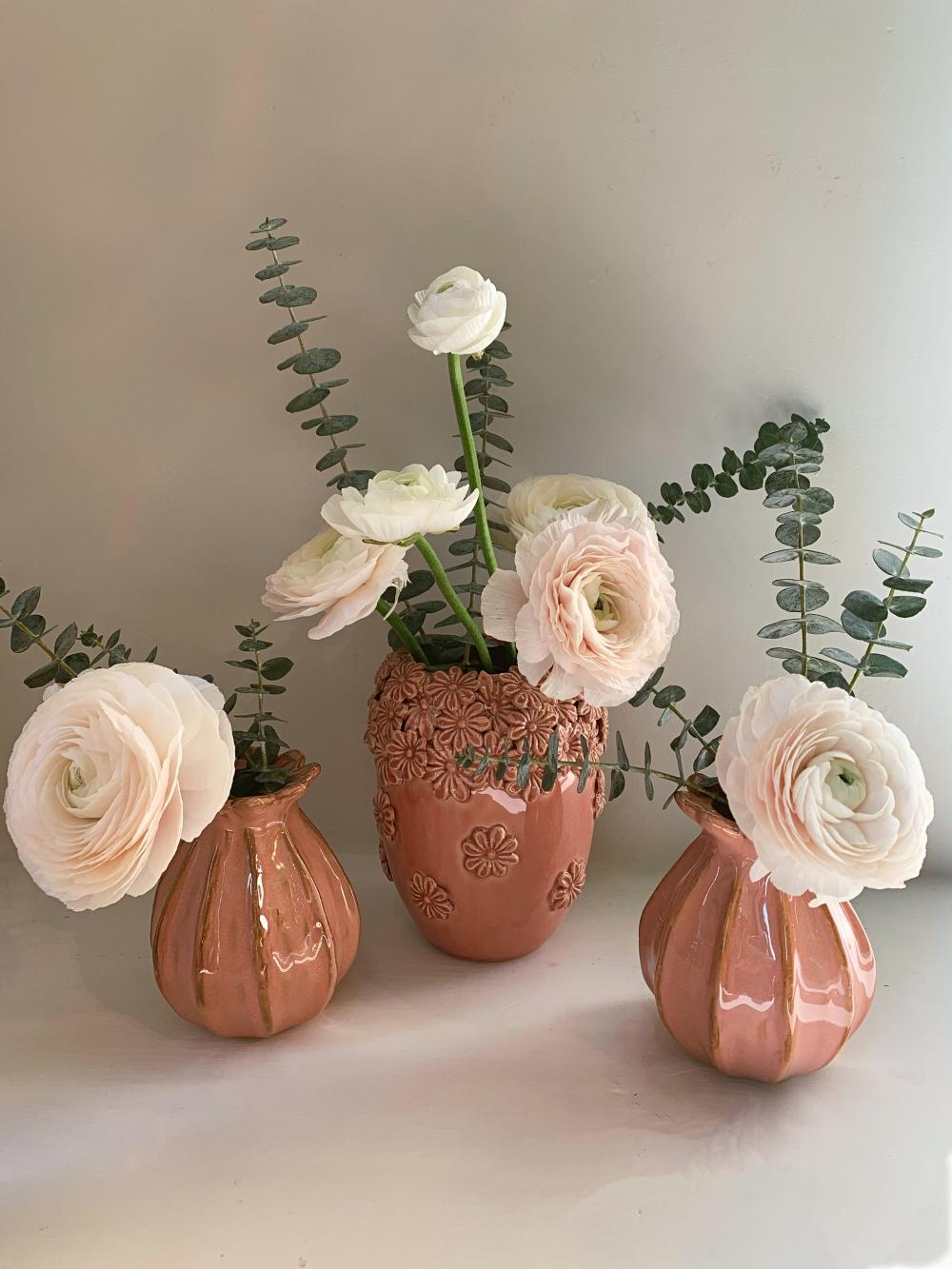 Saint-Valentin: petits pots de céramique rose # 3