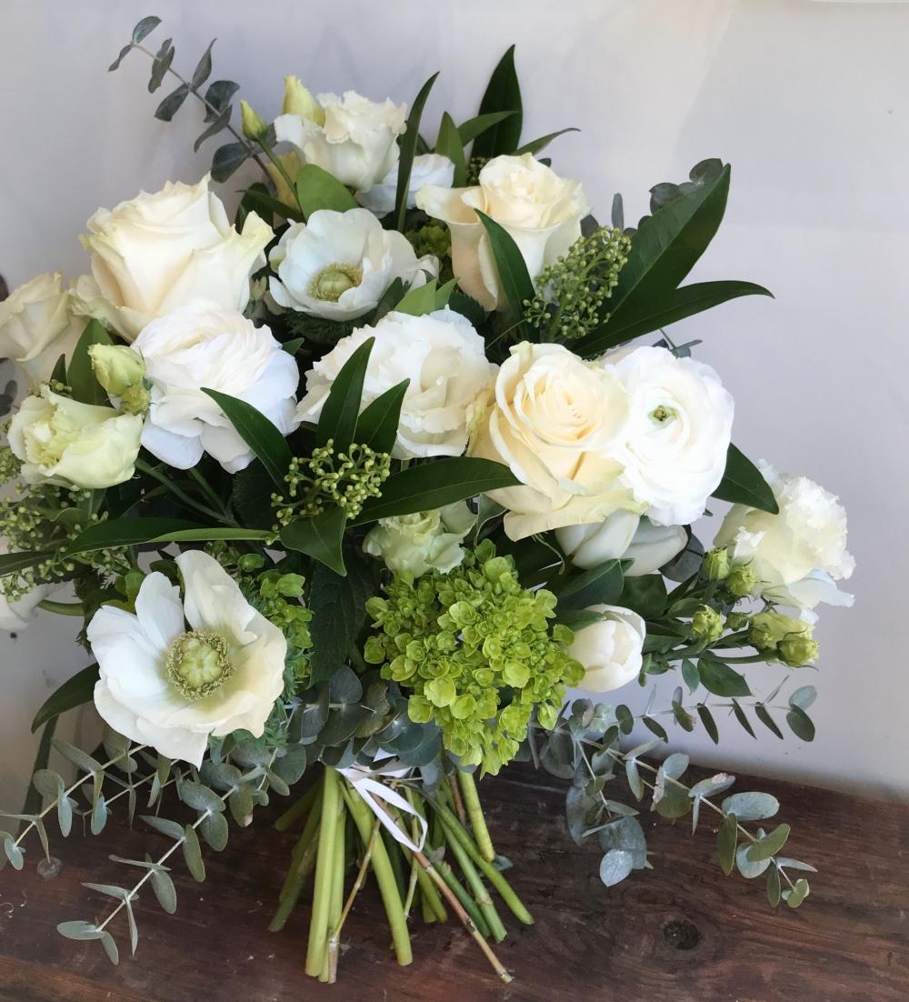 Saint-Valentin: Bouquet classique blanc # 5
